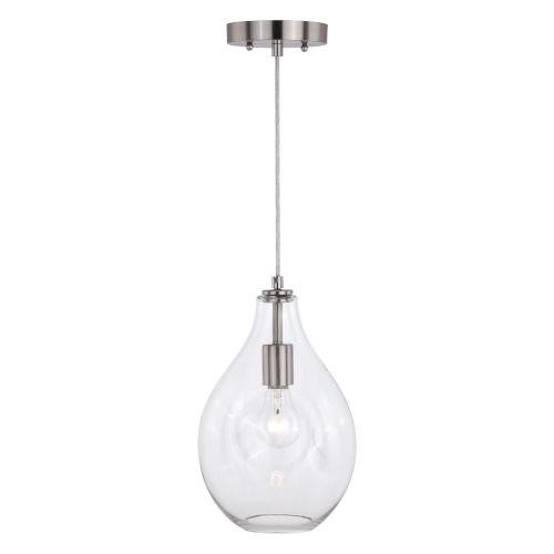Ainslie Satin Nickel Six-Inch One-Light Mini Pendant
