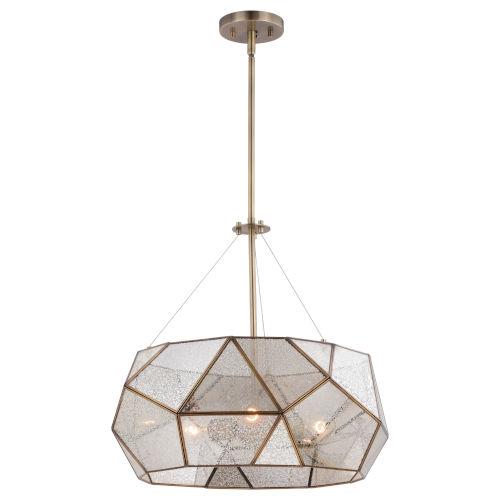 Euclid Aged Brass Three-Light Pendant
