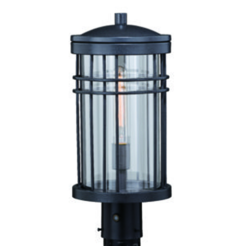 Vaxcel Wrightwood Vintage Black 8-Inch 1-Light Outdoor Post