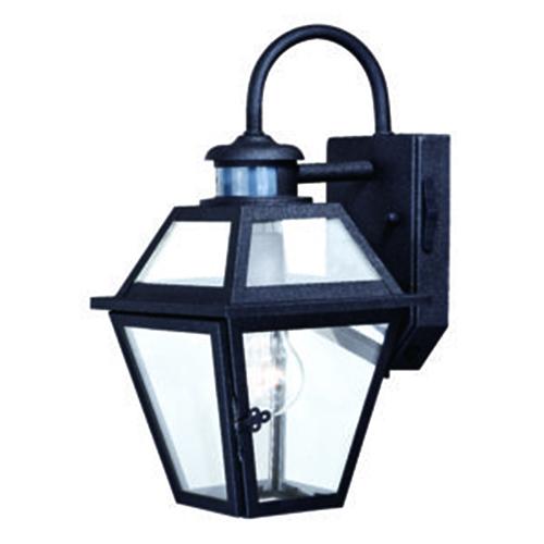 Nottingham Textured Black 7-Inch One-Light Outdoor Motion Sensor