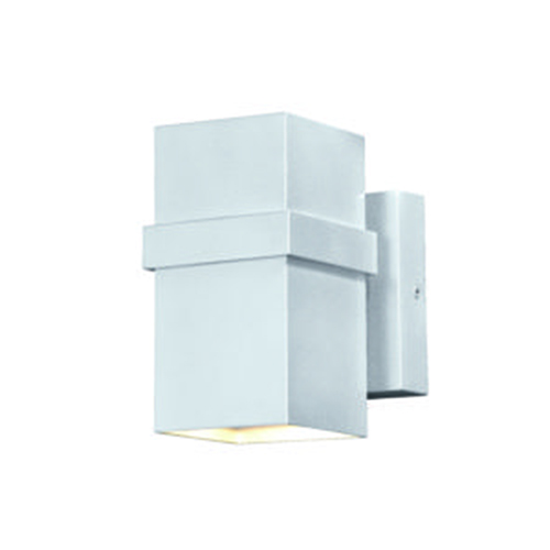 Vaxcel Lavage Painted Satin Nickel 4-Inch LED Outdoor Wall