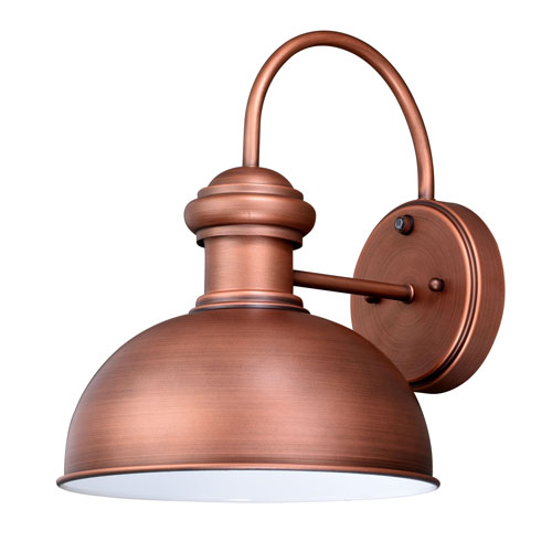 Franklin Brushed Copper 10-Inch One-Light Outdoor Wall Sconce