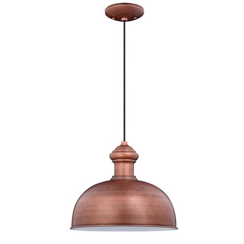 Franklin Brushed Copper One-Light Outdoor Pendant