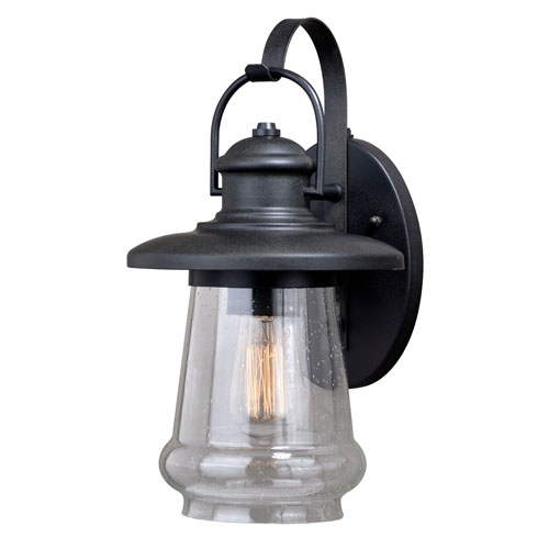 Vaxcel Bridgeport Oil Rubbed Bronze 10-Inch One-Light Outdoor Wall Sconce