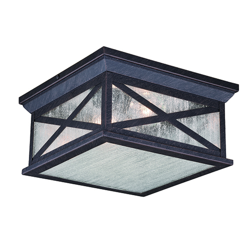 Maxwell Rust Iron Two-Light Outdoor Flush Mount