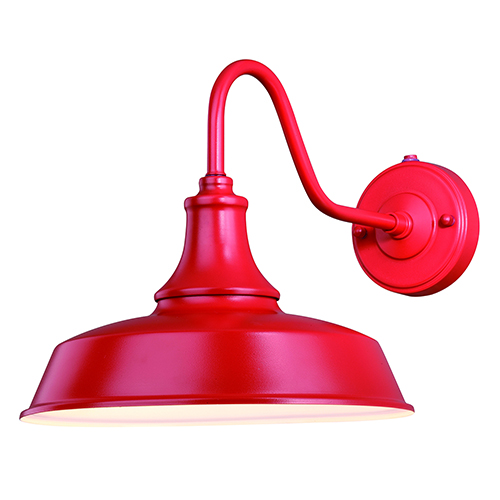 Dorado Red with Inner White Twelve-Inch One-Light Outdoor Wall Mount