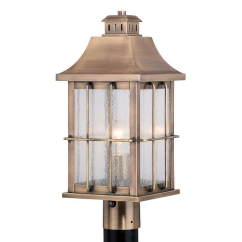 Quincy Antique Brass One-Light Outdoor Post