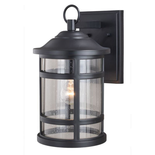 Southport Matte Black 9-Inch One-Light Outdoor Wall Mounted