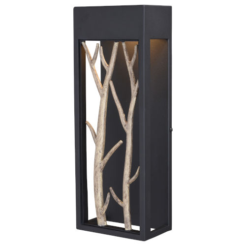 Ocala Textured Black and Natural ADA LED Outdoor Wall Sconce