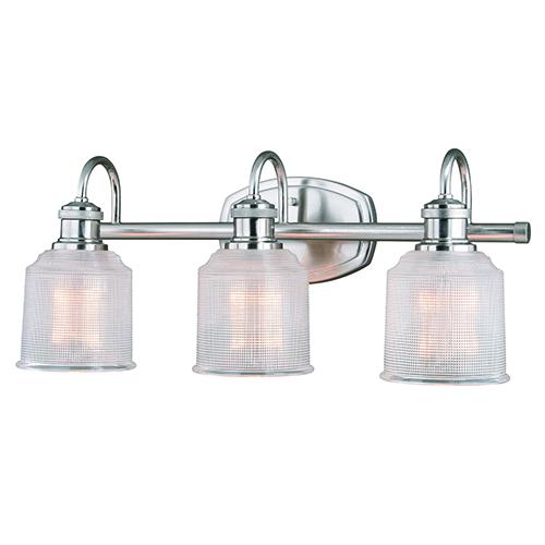 Dayton Satin Nickel Three-Light Reversible Bath Vanity Light