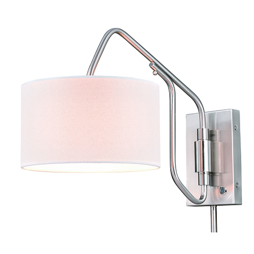 Marcin Satin Nickel 10-Inch One-Light Swing Arm Wall Sconce