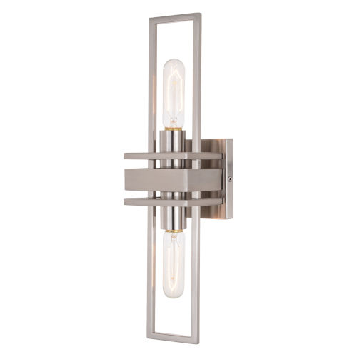 Marquis Satin Nickel Two-Light Wall Sconce