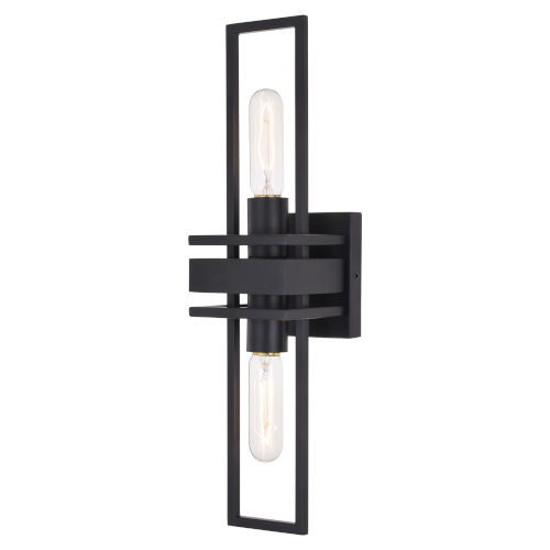 Marquis Matte Black Two-Light Wall Sconce