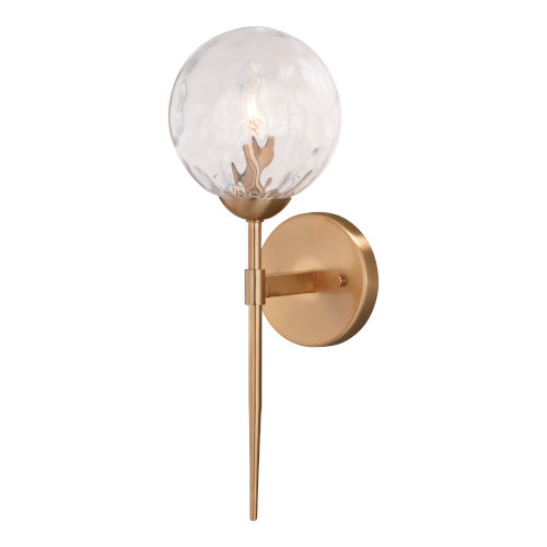 Olson Natural Brass One-Light Wall Sconce