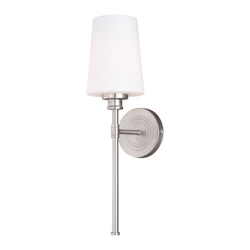 Clark Satin Nickel One-Light Wall Sconce