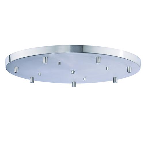 Satin Nickel Canopy for Seven-Light Pendant