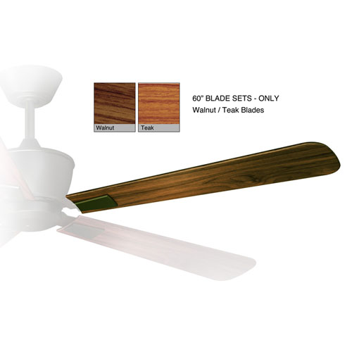 Geneva Walnut and Teak 60-Inch Fan Blade Set