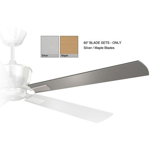 Geneva Silver and Maple 60-Inch Fan Blade Set