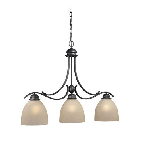Vaxcel Avalon Oil Burnished Bronze Three-Light Kitchen Island Light