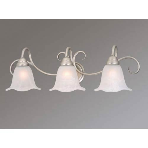 Bella Brushed Nickel Three-Light Bath Fixture