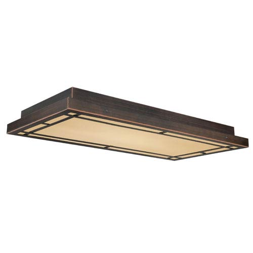 Oak Park Three-Light Sienna Bronze Ceiling Light