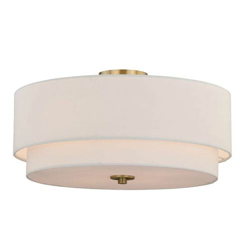 Burnaby Matte Brass Four-Light Semi-Flush Mount