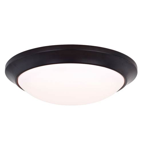 Vaxcel Leo Oil Burnished Bronze 12-Inch LED Bluetooth Flush Mount