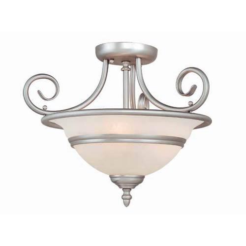 Vaxcel Da Vinci Brushed Nickel Semi-Flush Ceiling Light