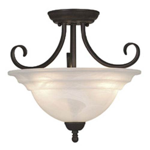 Vaxcel Babylon Oil Burnished Bronze Three-Light 14-Inch Semi Flush