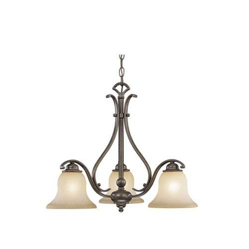 Vaxcel Monrovia Royal Bronze Three-Light Chandelier