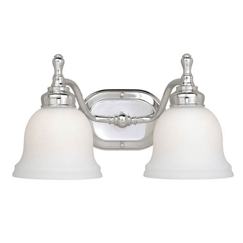 Vaxcel Cologne Chrome Two-Light Vanity