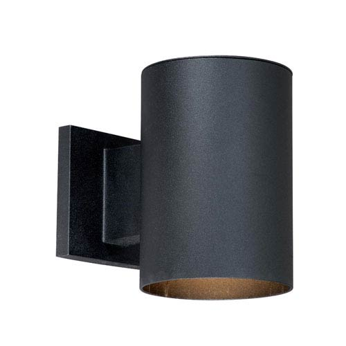 Vaxcel Chiasso Textured Black 5-Inch Outdoor Wall Light