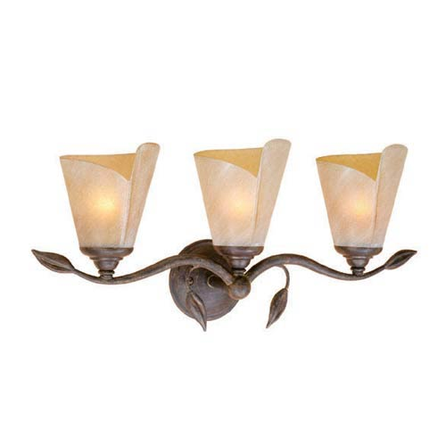 Capri Black Walnut Three-Light Bath Fixture