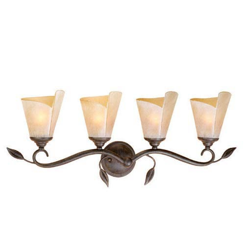 Capri Black Walnut Four-Light Bath Fixture