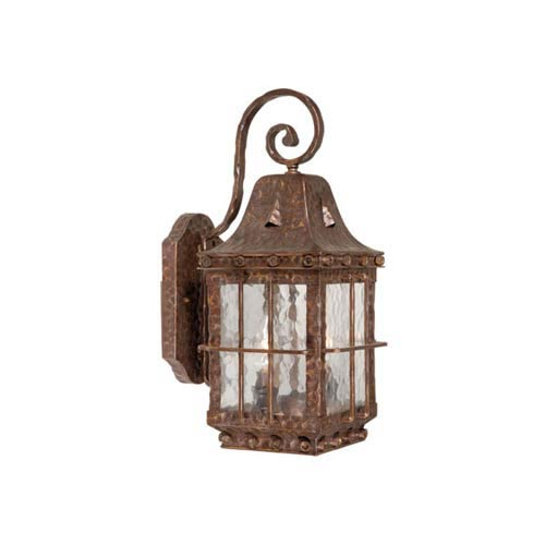 Vaxcel Edinburgh Colonial Iron Two-Light Outdoor Wall Light