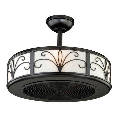 Vaxcel Veranda New Bronze Four-Light Drum Ceiling Fan