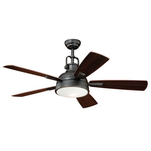 Vaxcel Walton Gold Stone One Light Ceiling Fan