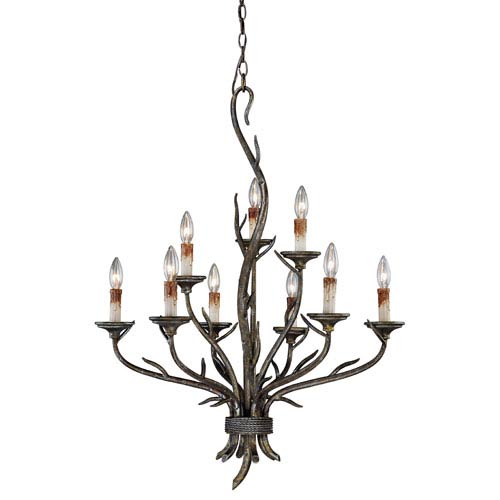 Monterey Autumn Patina Nine-Light Chandelier