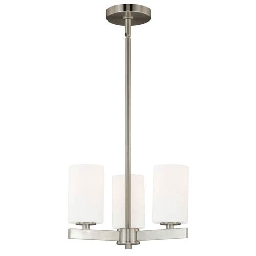 Glendale Satin Nickel Three-Light Chandelier