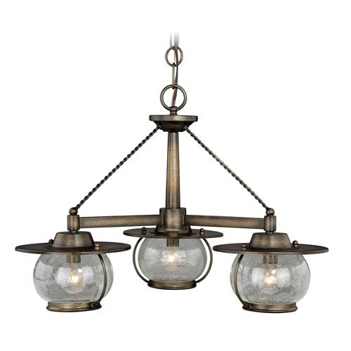 Vaxcel Jamestown Parisian Bronze Three-Light Outdoor Chandelier