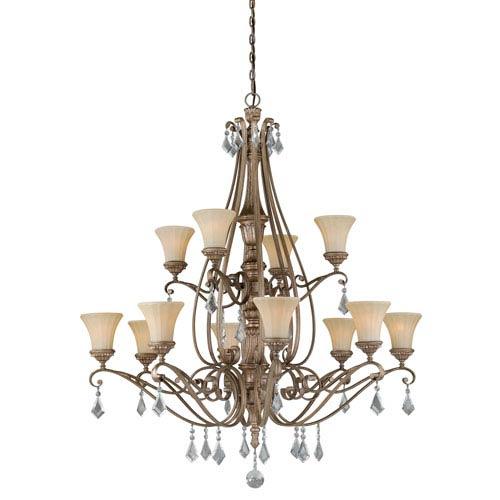 Avenant French Bronze Twelve-Light Chandelier