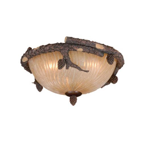Weathered Patina Two-Light 14-1/2-Inch Light Kit
