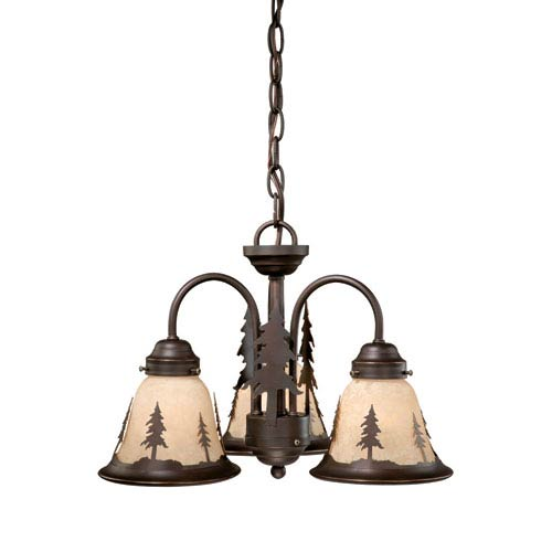 Yosemite Burnished Bronze Three-Light Light Kit