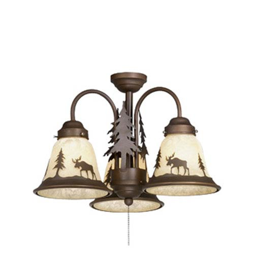 Vaxcel Yellowstone Burnished Bronze Three-Light Light Kit