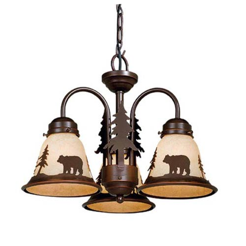 Bozeman Burnished Bronze Three-Light Light Kit