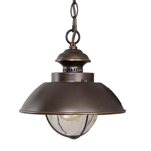 Harwich Burnished Bronze 10-Inch Outdoor Pendant
