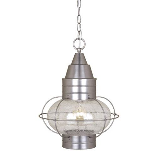 Vaxcel Chatham Brushed Nickel 13-Inch Outdoor Pendant