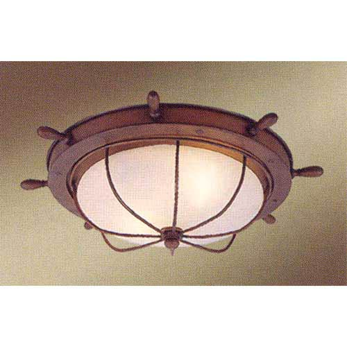 Vaxcel Nautical Flush Mount Ceiling Light