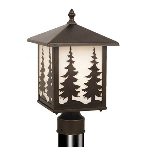 Yosemite Burnished Bronze Outdoor Post Light