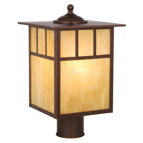 Mission Burnished Bronze Outdoor Post Light